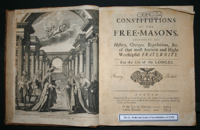 James Anderson's 'Constitutions of the Free-Masons' published in 1723