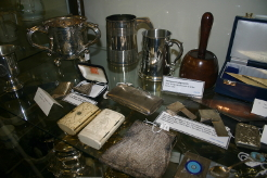 A Display Cabinet in the John Davies Room